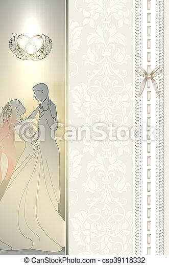 Wedding Invitation Card Design Decorative And Vintage Background For Wedding Invitation Card Design