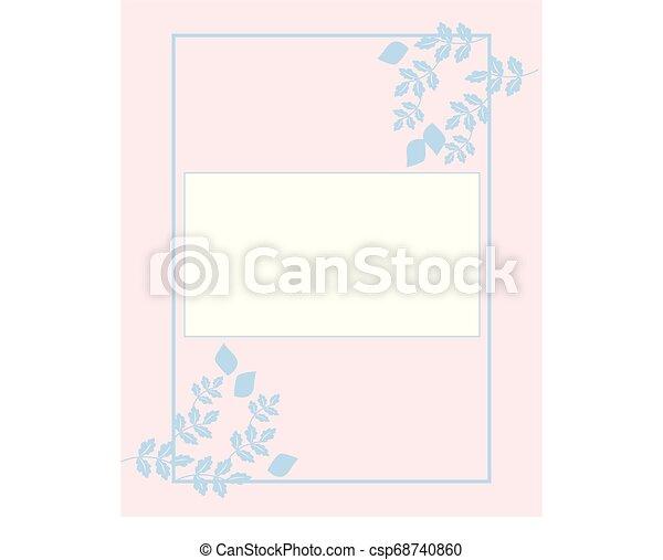 Wedding Invitation Card Design Vector Or Color Illustration