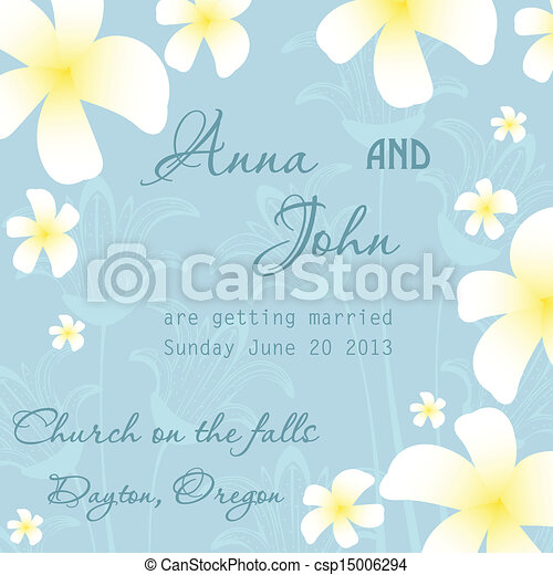 Wedding invitation card - csp15006294