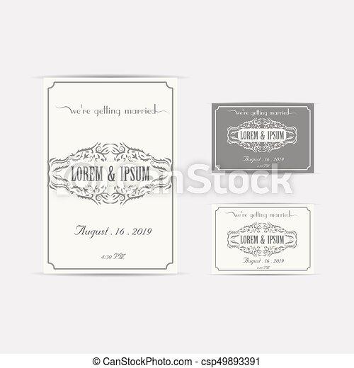 Wedding invitation card vector illustration eps file wedding invitation card csp49893391 stopboris Gallery