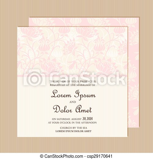 Wedding invitation card eps vector search clip art illustration wedding invitation card csp29170641 stopboris Image collections