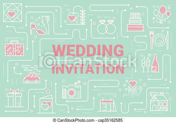 Wedding invitation card layout template illustration vector wedding invitation card csp35162585 stopboris Images