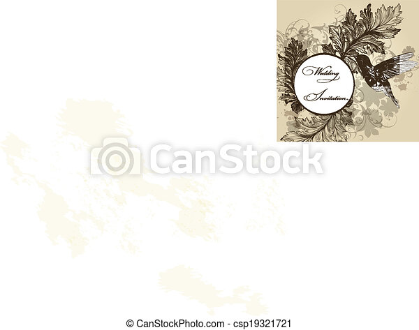 wedding invitation card for design csp19321721