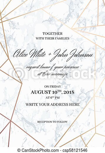 Wedding Invitation Card Template Geometric Design Wedding Invitation Card Template Of Geometric Design Invitation To A Canstock