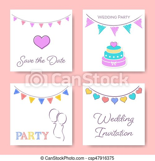 Wedding invitation card templates - csp47916375