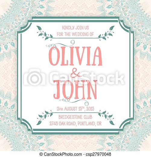Wedding invitation card vector invitation card with floral elements wedding invitation card vector invitation card with floral elements on the background and elegant stopboris Images