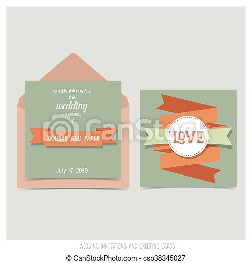 Wedding Invitation Card With Ribbon Templates