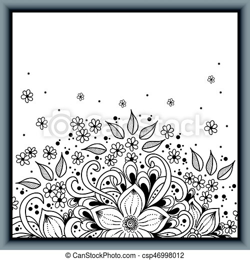 Wedding invitation card with vector abstract floral elements in wedding invitation card with vector abstract floral elements in indian mehndi style abstract henna floral vector illustration grayscale design element stopboris Gallery