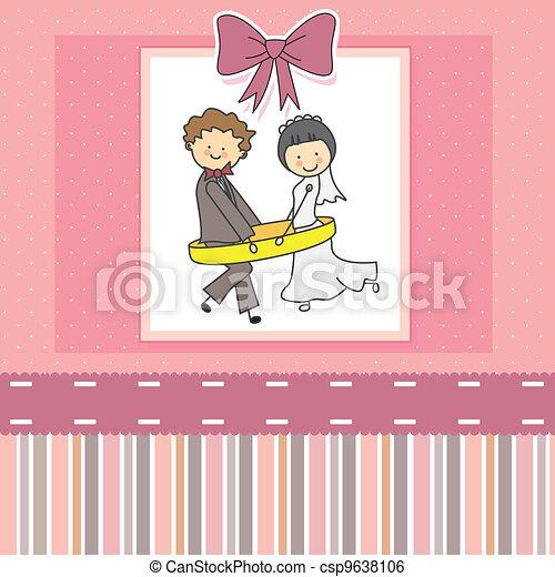 wedding invitation - csp9638106