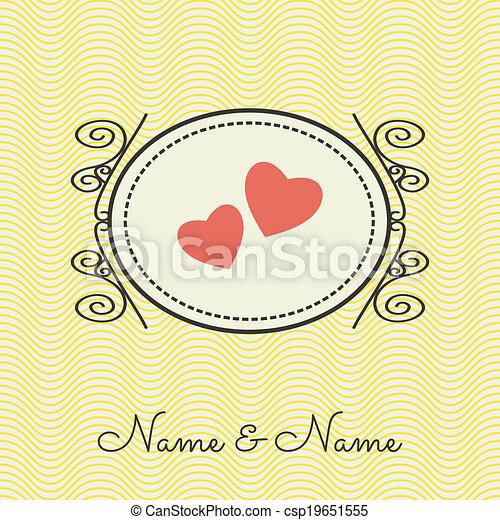 Wedding invitation  - csp19651555
