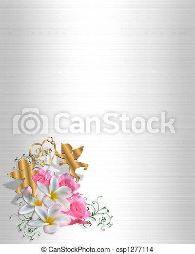Wedding Invitation Corner design - csp1277114