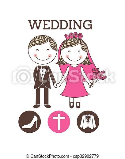 wedding invitation design  - csp32902779