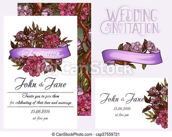 Wedding invitation design template - csp37559721
