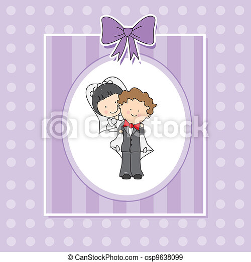 wedding invitation - csp9638099