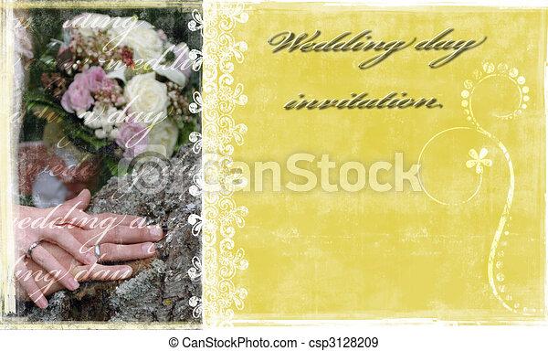 Wedding invitation - csp3128209