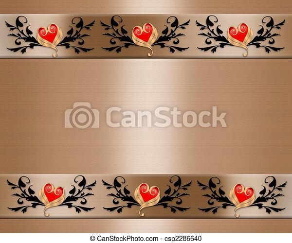 Wedding Invitation Elegant Borders - csp2286640