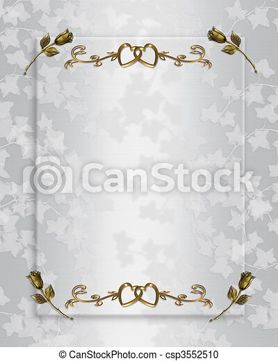 Wedding invitation elegant satin - csp3552510