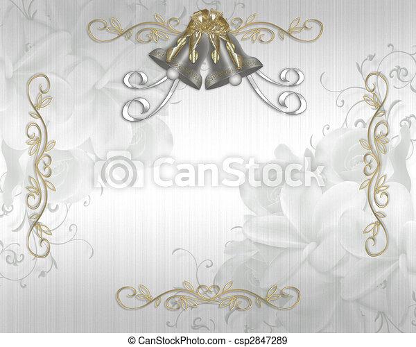 Wedding Invitation elegant satin - csp2847289