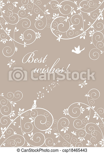 Wedding invitation - csp18465443