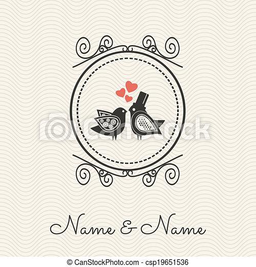 Wedding invitation  - csp19651536