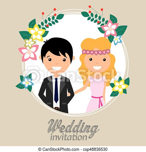 Wedding invitation - csp48836530