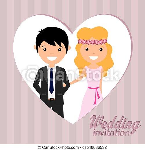 Wedding invitation - csp48836532