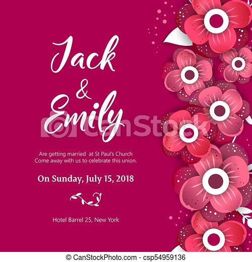 Wedding invitation floral invite card design wedding invite wedding invitation floral invite card design csp54959136 stopboris Gallery