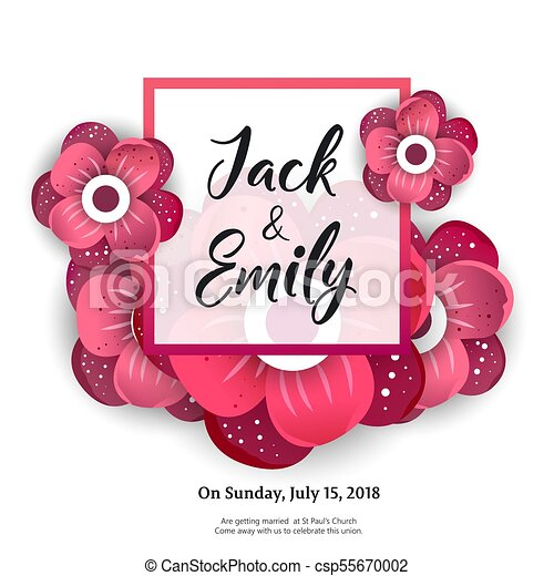 Wedding Invitation Floral Invite Card Design Wedding Invite Flyer