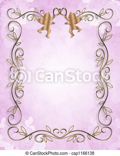 Wedding invitation floral - csp1166138