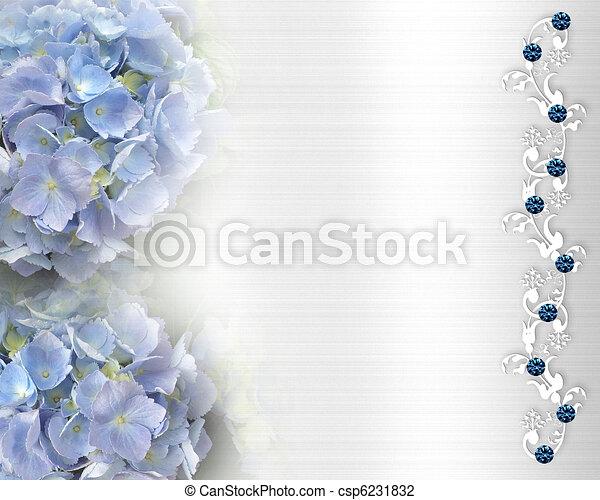 Wedding invitation Hydrangea BG - csp6231832