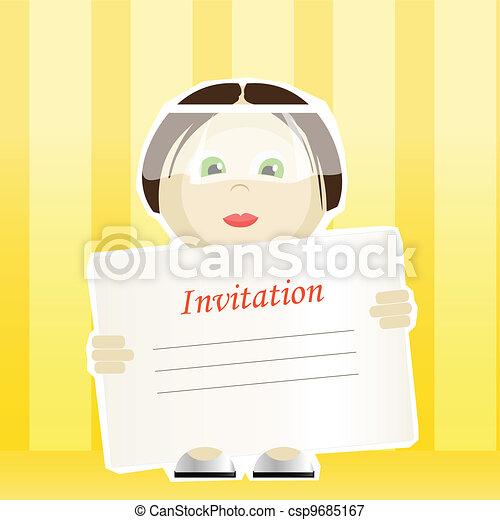 Wedding invitation. - csp9685167