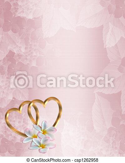 Wedding Invitation Pink Satin - csp1262958