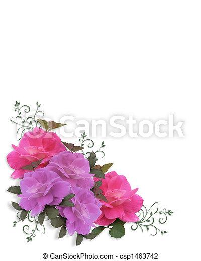 Wedding invitation Roses Corner  - csp1463742