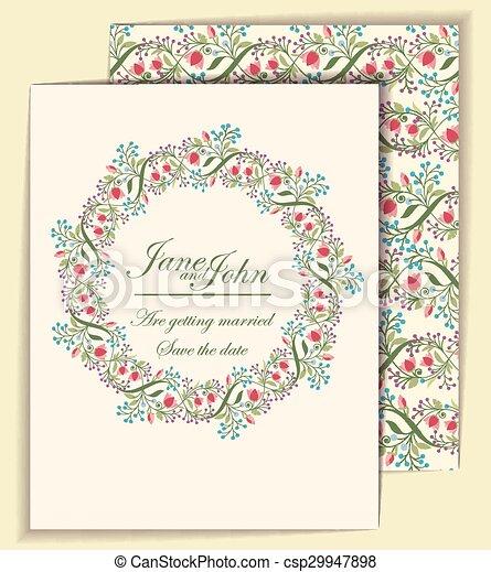 Wedding invitation template - csp29947898