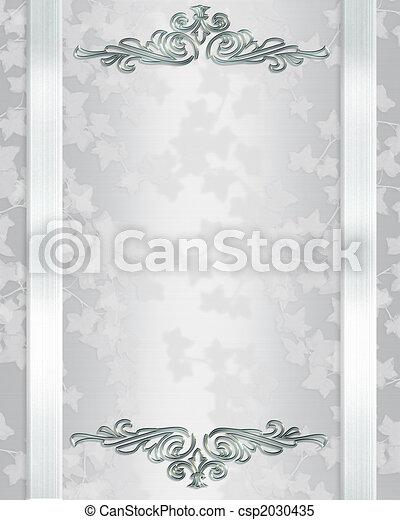 Wedding invitation template elegant - csp2030435