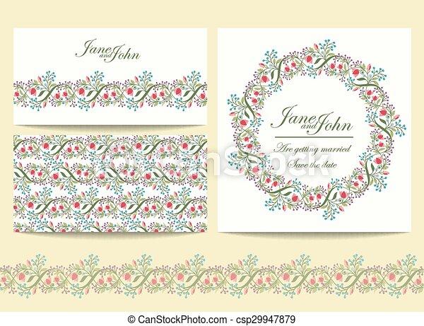 Wedding invitation template - csp29947879