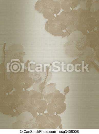 Wedding invitation template Orchids - csp3406008