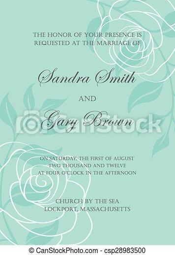 Wedding invitation template - csp28983500