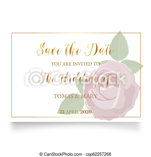 picture regarding Printable Wedding Card called Marriage invitation template with rose, ring and leaf