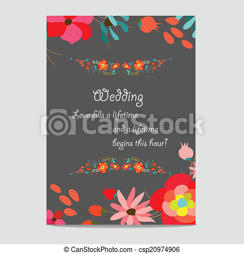 Wedding invitation - csp20974906