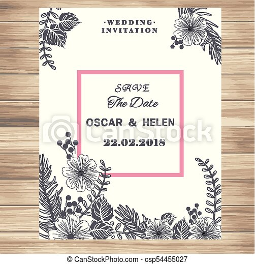 Wedding invitation vintage white flowers vanilla background vector wedding invitation vintage white flowers vanilla background vector image stopboris Image collections