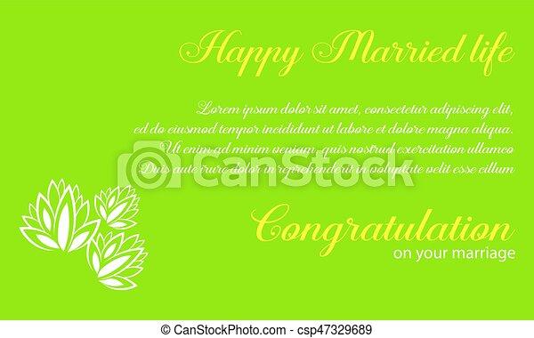 Wedding invitation with green background vector illustration wedding invitation with green background csp47329689 stopboris Gallery