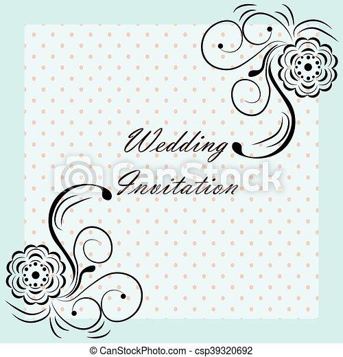 Wedding invitation with ornaments wedding invitation with rose wedding invitation with ornaments csp39320692 stopboris Image collections