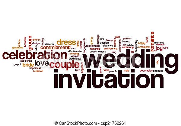 Wedding invitation word cloud wedding invitation concept word cloud wedding invitation word cloud csp21762261 stopboris Images