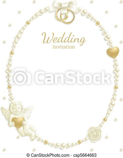 Wedding jewel frame - csp5664663