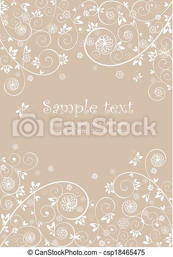 Wedding lacy invitation - csp18465475