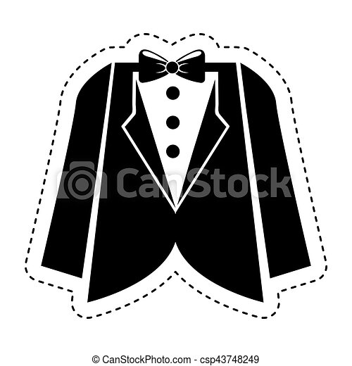 wedding male suit icon