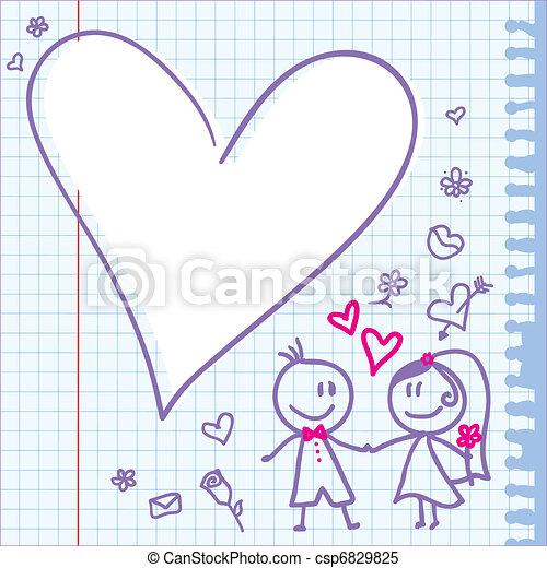wedding note - csp6829825