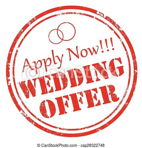 Wedding Offer - csp28322748