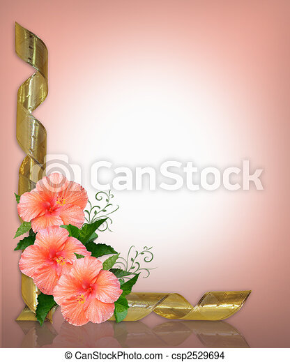 Wedding or Party Invitation Hibiscus - csp2529694
